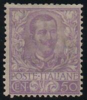 1901 REGNO FLOREALE CENT.50 N.76 BUONA CENTRATURA G.O.* CERT. CILIO