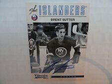 Brent Sutter 2012/13 Panini Classics On Card Autograph New York Islanders