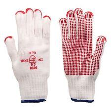 Arbeitshandschuhe - Strickhandschuhe mit roten PVC-Noppen K1301 Größe  1 Paar