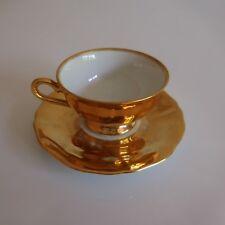 Tasse porcelaine dorure or fin BAVARIA GERMANY art déco design XXe PN France