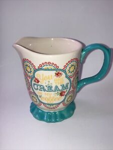 """Pioneer Woman """"You Are The Cream In My Coffee"""" Blossom Jubilee Footed Creamer"""