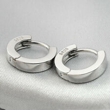 """2pcs0.5""""12mm 925 Silver Plated Huggie Earrings Ear Bone Hoop Men's Women's Unsex"""