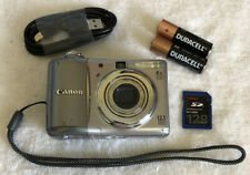 Canon PowerShot A1100 IS Digital Camera 12.1MP 4x OZ~~Gray~~Bundle~~SD Card~~