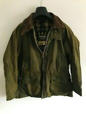 Mens Barbour Bedale wax jacket Green coat 40in size Medium / Large M/L #7
