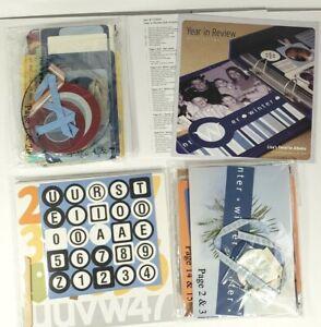 "Creating Keepsakes Lisa Bearnson Year In Review 8"" x 8"" Blue Scrapbook Album Kit"