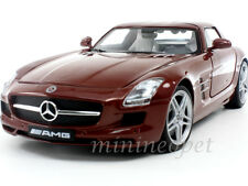 MOTORMAX 79162 MERCEDES BENZ SLS AMG GULLWING 1/18 DIECAST CHOCOLATE BROWN