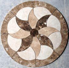 Marble Travertine Tile Medallion Design Stone 28  #33