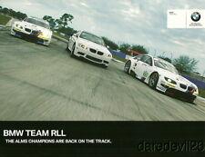 2011 Rahal Letterman Lanigan Racing BMW M3 GT ALMS postcard