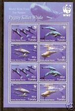 WWF TUVALU 2006 PYGMY KILLER WHALES Souv Sheet MNH