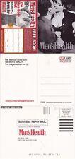MENS HEALTH MAGAZINE DOUBLE UNUSED ADVERTISING COLOUR POSTCARD