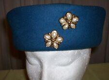 Street Smart Betmar vintage Blue Wool Felt, Buttons, Ushanka/Cossack 1988 NWT