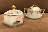2 VINTAGE NIPPON AND NORITAKE PORCELAIN CREAMER AND SUGAR EXCELLENT CONDITION