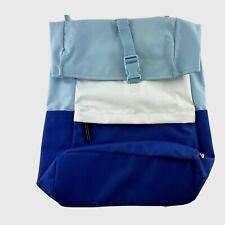 IKEA Backpack 5G Blue White Colorway Book Bag Zip Laptop Pocket Starttid