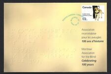 Canada  S77  Special Event Cover   FOR THE BLIND   New 2008 Unaddressed