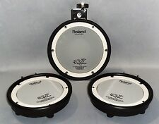 Roland PDX-8 & 2-PDX-6 Dual Trigger Mesh Head V-Drums Rubber Pad Upgrade Set Lot