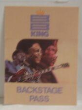 B.B. KING - VINTAGE ORIGINAL CONCERT TOUR CLOTH BACKSTAGE PASS