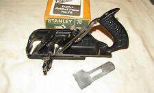 Vintage Boxed Stanley 78 rebate plane old woodworking tool plane Duplex Rabbet