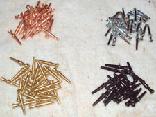 """100 Metal Cribbage Pegs for 1/8"""" holes - 4 Colors: Copper, Black, Gold, Silver"""