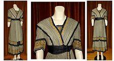 Antique Edwardian TITANIC SILK Wool Evening Dress Gown