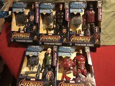 """12"""" Marvel Avengers Infinity War Titan Hero Action Figures. Power FX Lot Of 5."""
