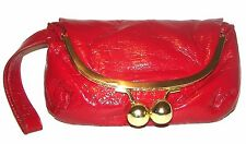 RED Kiss Clasp Handbag Purse Clutch Wristlet
