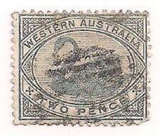 Western Australia Stamp- Scott # 63/A10-Used/VF/LH-1888