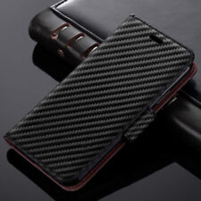 Stylish Leather Wallet Carbon Book Card Slot Stand Case Cover For Huawei P30