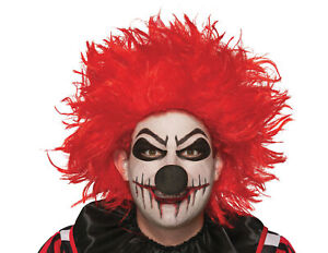 Red Evil Clown Wig Adult Costume Accessory NEW