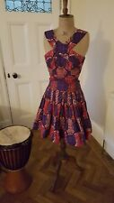 SIKA  Ghana Traditional A Line Tribal African Print Skirt and Top  Size UK 10