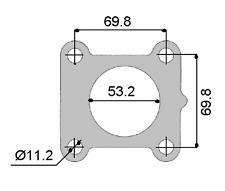 PERMASEAL TURBO INLET GASKET FOR TOYOTA LANDCRUISER LJ70 LJ71 LJ78  2L 2L-T