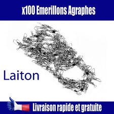 Lot de 100 EMERILLONS AGRAPHE PECHE  EMERILLON LAITON PECHE MER  EAU DOUCE