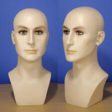 "Brand New 16"" Flesh Tone Male Head Mannequin 202N"