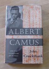 ALBERT CAMUS by Cruickshank - literature of revolt - 1st /1st HCDJ 1959 Oxford
