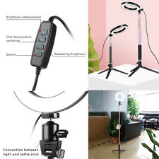 New 5500K Dimmable LED Ring Light Kit with Stand for Makeup Phone Camera Selfie