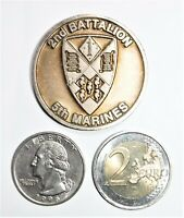 Challenge Coin - USMC - 2nd Battalion - 5th Marines - Retreat Hell - 224th B-day