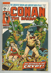 """Conan the Barbarian #8: Bronze Age Grade 8.0 Find """"The Keepers of the Crypt""""!!"""