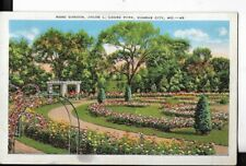 rose garden,jacob l. louise park,kansas city missouri postcard 1944