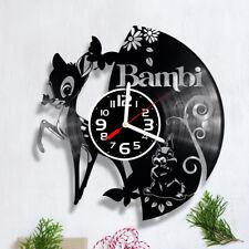 Bambi Vinyl Record Clock Handmade Home Decor Wall Art Souvenir