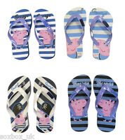 Boys Kids George Peppa Pig, Summer Beach Flip Flops! Blue, Pirates & Stripes!