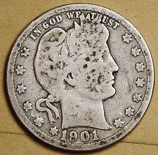 1901 Barber Quarter.  Good.  96165