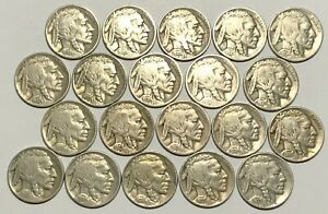Buffalo Nickel 20 Coin Lot Collection Dated 1920 - 1937 (U900)