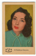 1960s Swedish Film Star Card Bilder A #53 US Soprano Actress Kathryn Grayson