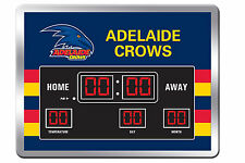 Adelaide Crows AFL Glass SCOREBOARD LED Clock Date Time Temp Man Cave Bar Gift
