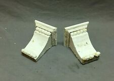 Small Pair Antique Wood Porch Corbels Shabby VTG Chic Shelf Brackets 971-20B