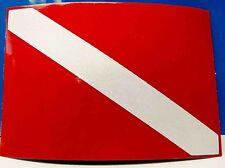 1035 REFLECTIVE DIVE FLAG SCUBA DIVER OCEAN DEEP SEA DIVING DECAL STICKER