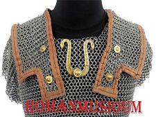 "Lorica Hamata Roman Knight Medieval 16g Steel""Chainmail Armor medium size"
