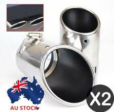 TWIN EXHAUST TAIL TIP PIPE TRIM DUAL MUFFLER SPORT CHROME UNIVERSAL FIT 52-73MM