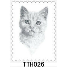 lifelike Temporary Tattoo Waterproof Removable Cat Stickers Arm Body Art Tatoo