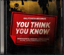 Halftooth HIP HOP- Think You Know Vol.2 Promo CD (Oddisee/Wordsworth/Kenn Starr)