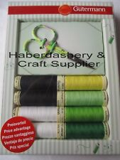 GUTERMANN POLYESTER THREAD PACK 8 MATCHING EMBROIDERY SCISSORS*GREEN